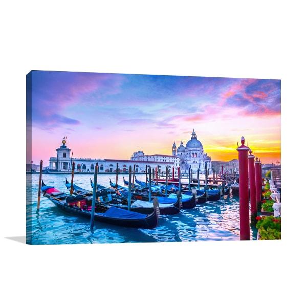 Sunset in Venice Art Prints