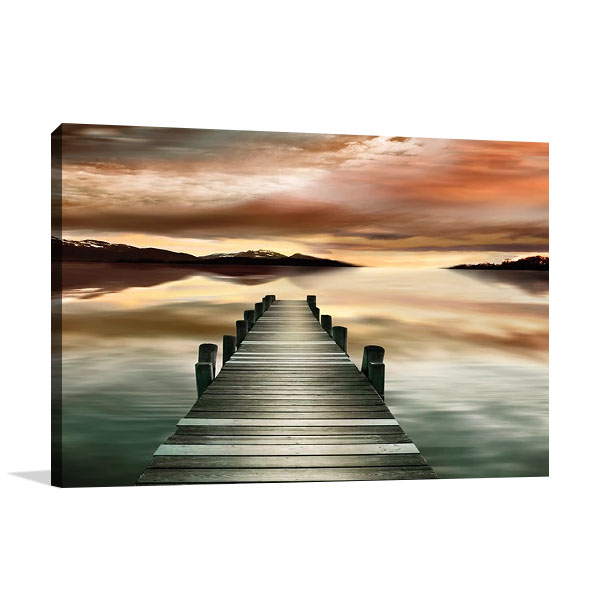 Sunset Jetty Art Print