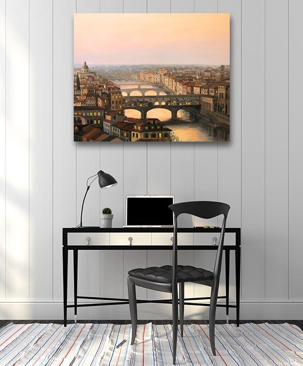 Sunset Over Firenze Wall Art