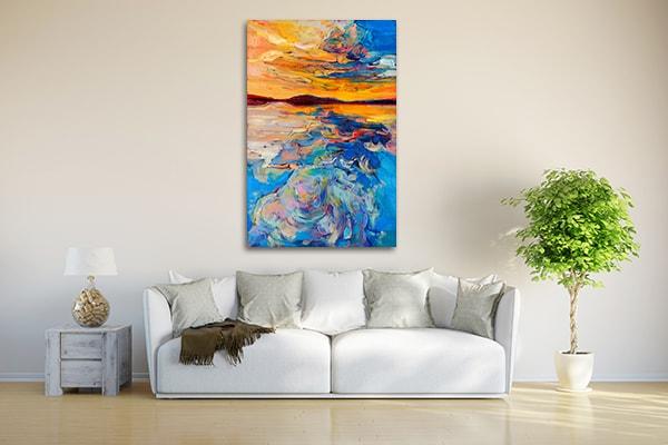 Sunset Over Ocean Wall Art