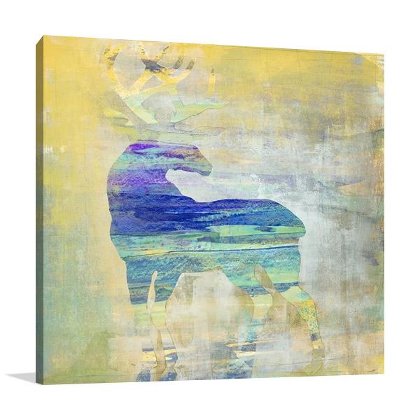 Sunset Stag Canvas Print   Harris