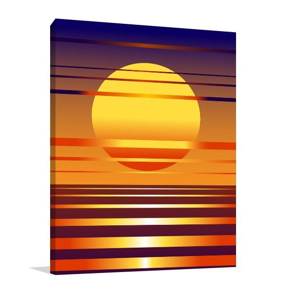 Sunset Symbol Canvas Art Prints