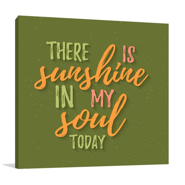 Sunshine in Soul Artwork