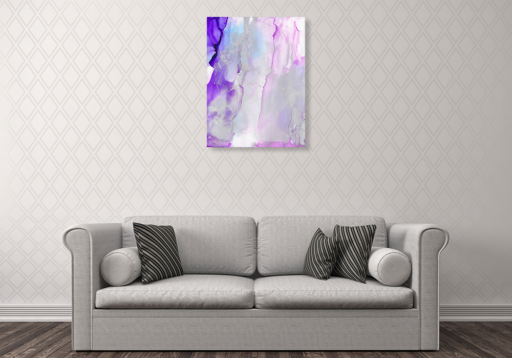 Purple Abstract Print on Canvas