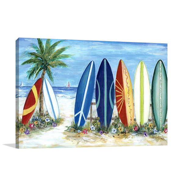 Surfing Wall Print   Marilyn Dunlap