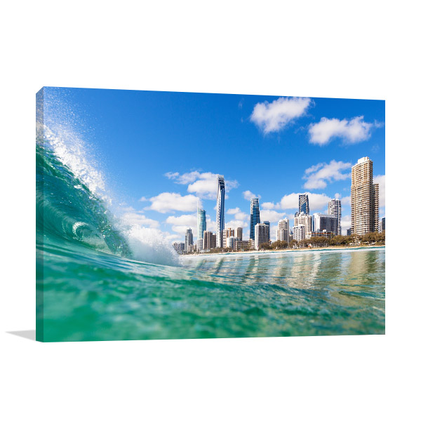 Surfers Paradise Wall Print Water Shot Photo Art