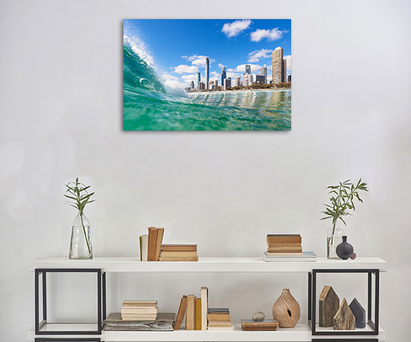 Surfers Paradise Wall Print Water Shot Art Picture