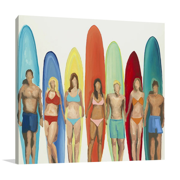 Canvas Art Print Surfing