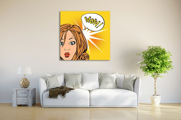 Surprised Woman Art Print on the Wall