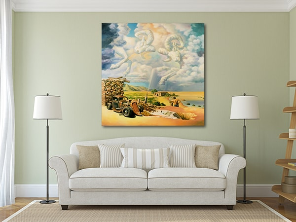 Surreal Clouds Art Print on the Wall