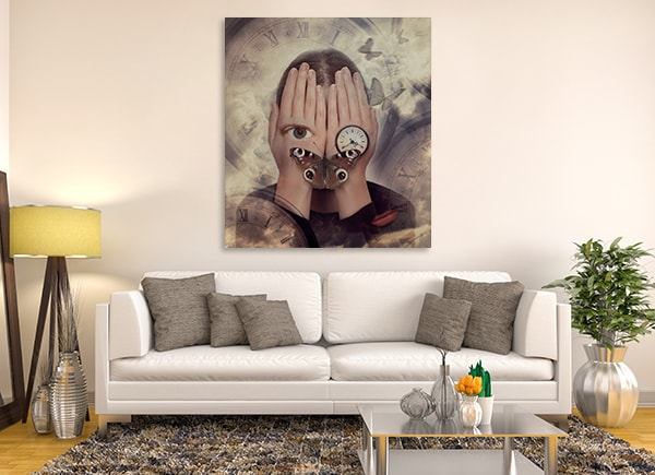 Surreal Dream Wall Art Print on the Wall