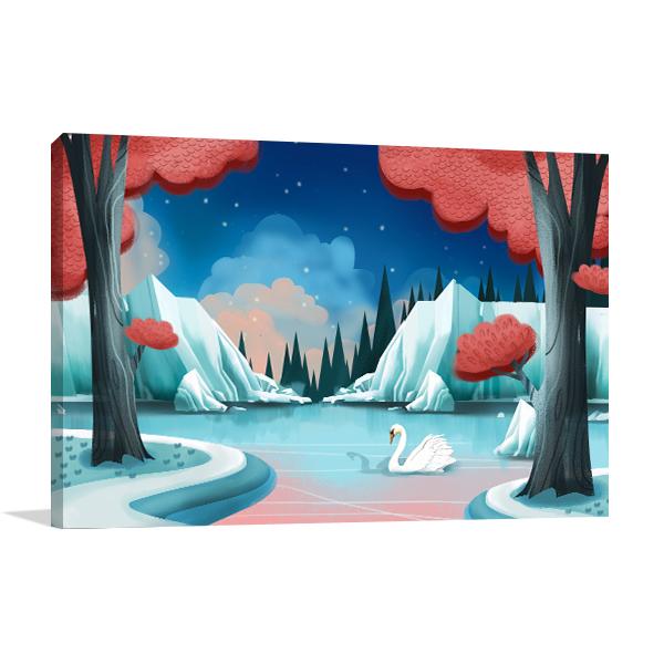 Swan Lake Story Canvas Prints
