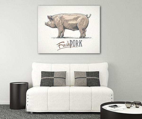 Swine Canvas Prints