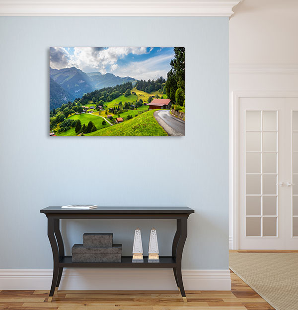 Swiss Alps Village Canvas Prints