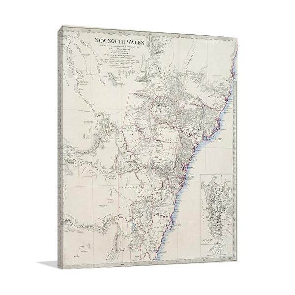 Sydney Antique Map Print