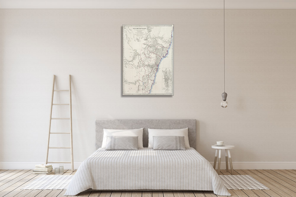 Map Canvas Art Print