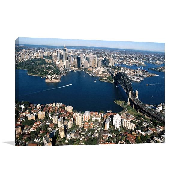 Sydney City Aerial View Print