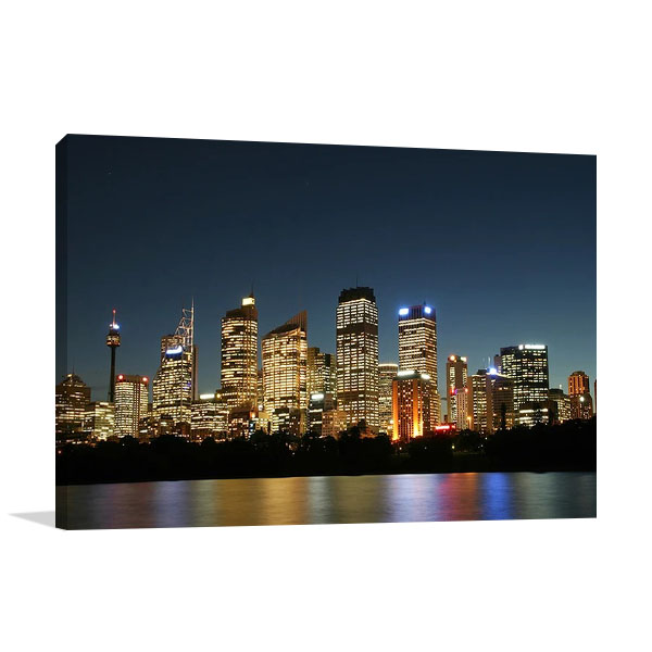 Sydney City At Night Canvas Print