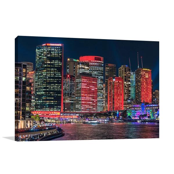 Sydney City Skyline | Canvas Wall Print