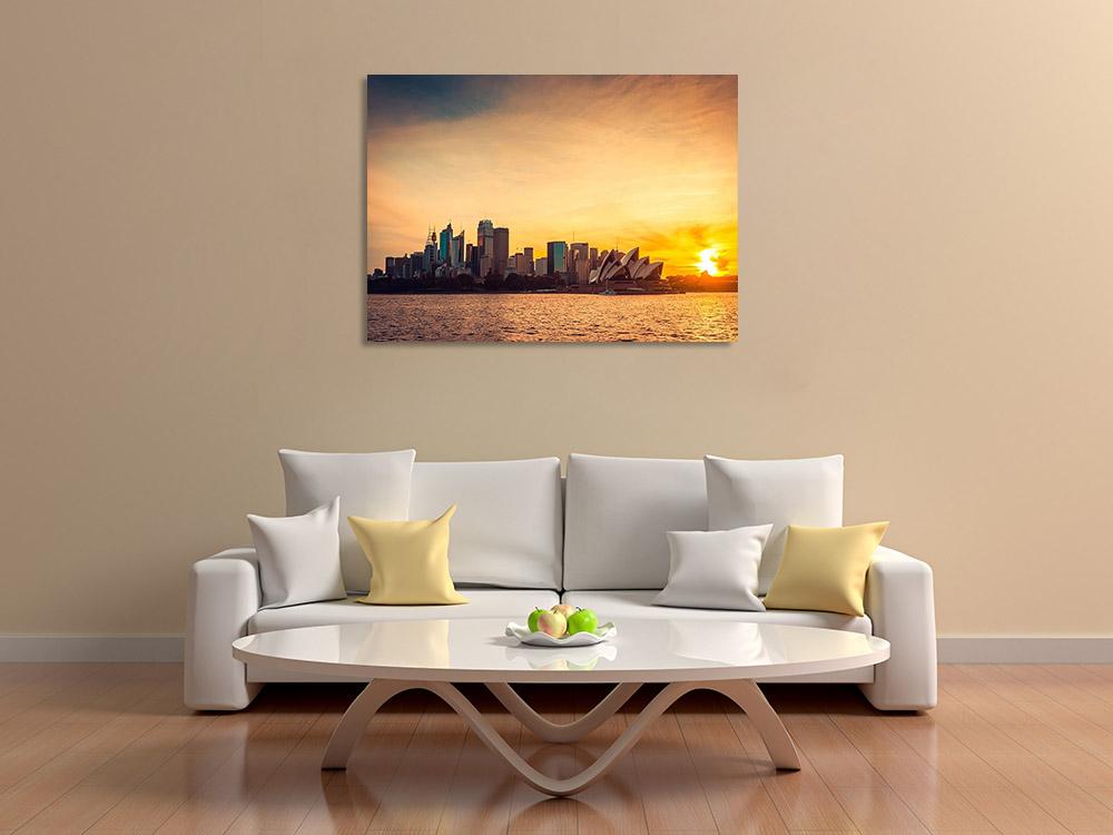 Orange Landscape Print on Canvas