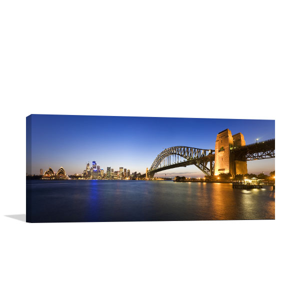 Sydney Harbour At Twilight Canvas Art Prints