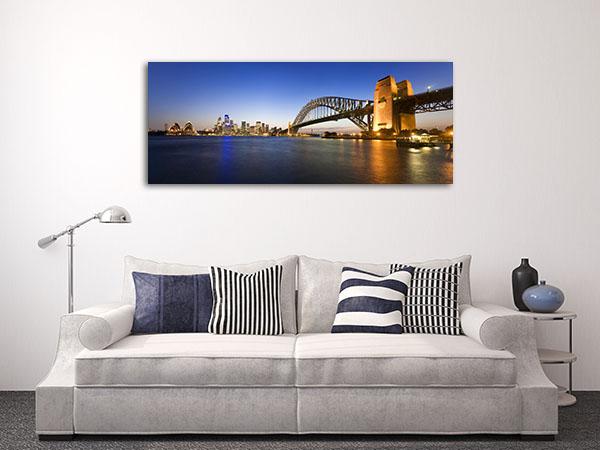 Sydney Harbour At Twilight Prints Canvas