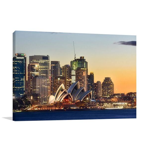 Sydney Opera House on Sunset Australia