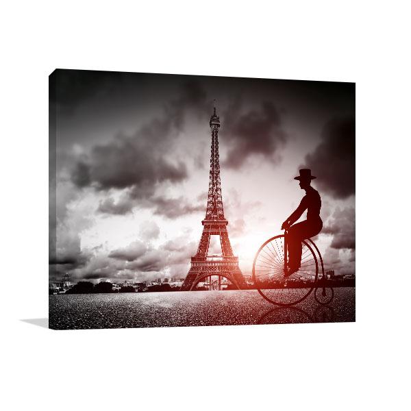 Tall Tower Big Bike in Paris Wall Art