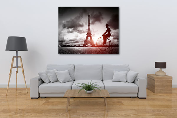 Tall Tower Big Bike in Paris Print Artwork