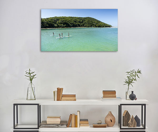 Tallebudgera Creek Art Print Standup Paddle Picture Canvas