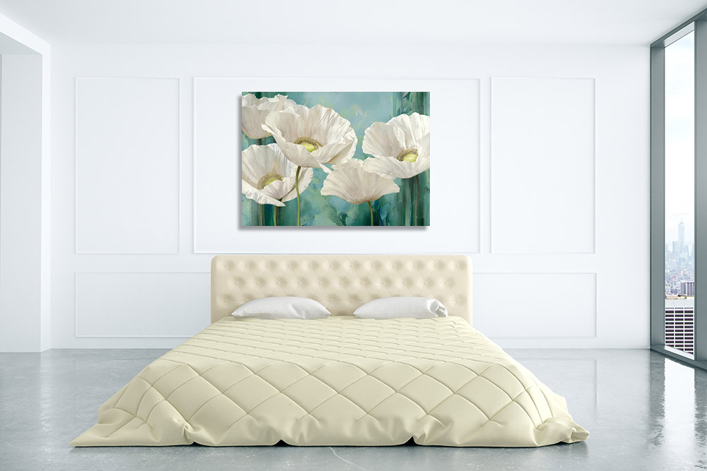 Landscape White Flower Wall Art Print