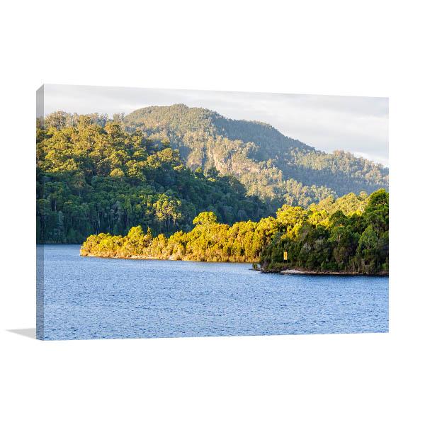 Tasmania Wall Print Lake Rosebery 3D