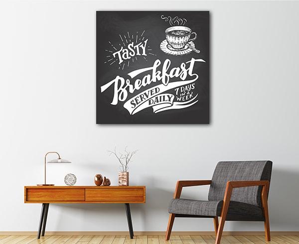 Tasty Breakfast Prints Canvas
