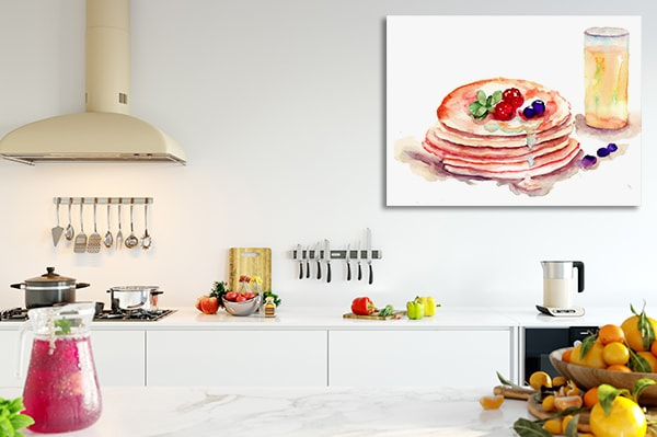 Tasty Pancakes Canvas Prints