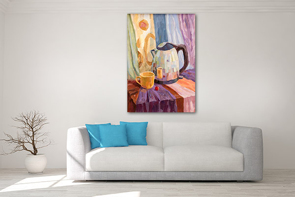 Tea Time Still Life Prints Canvas