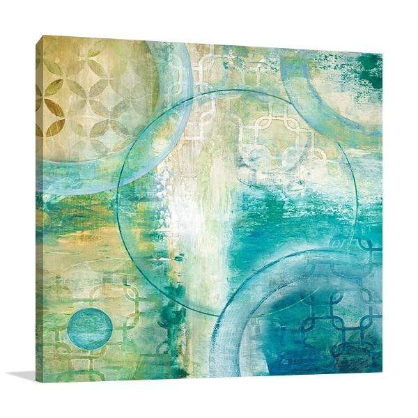 Teal Aire I Print   Tava Studios