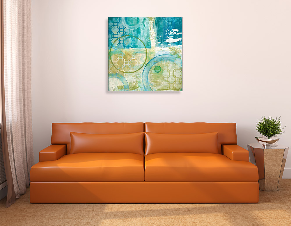Green Abstract Contemporary Print