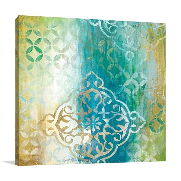 Teal Impression I Canvas Print   Tava Studios