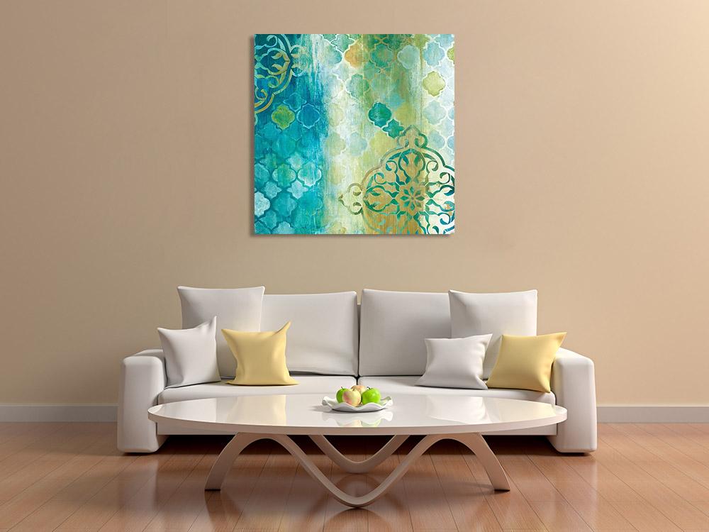 Contemporary Canvas Blue Print