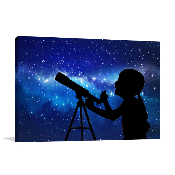 Telescope At The Stars Canvas Prints