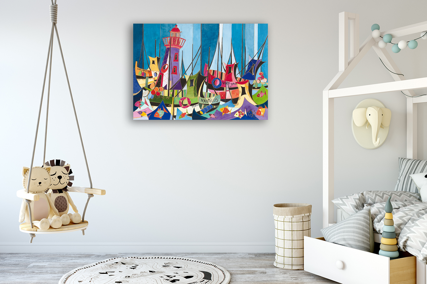 Square Kids Abstract Art