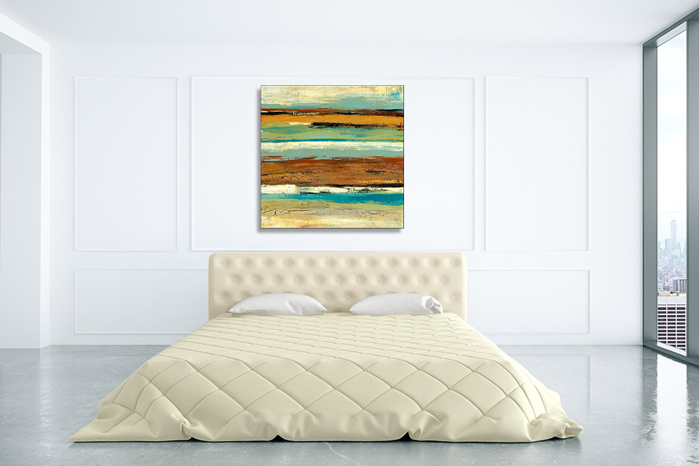 Brown Square Print on Canvas