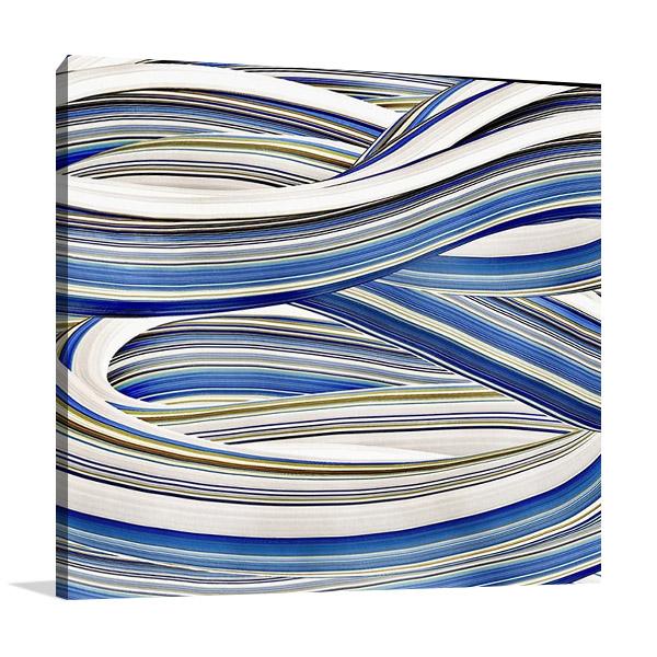 The Blue Swirls I Wall Print