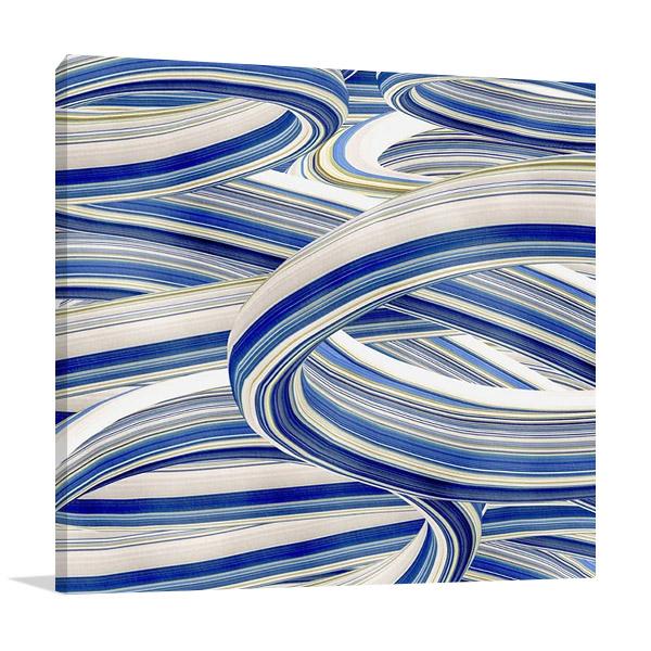 The Blue Swirls II Wall Print
