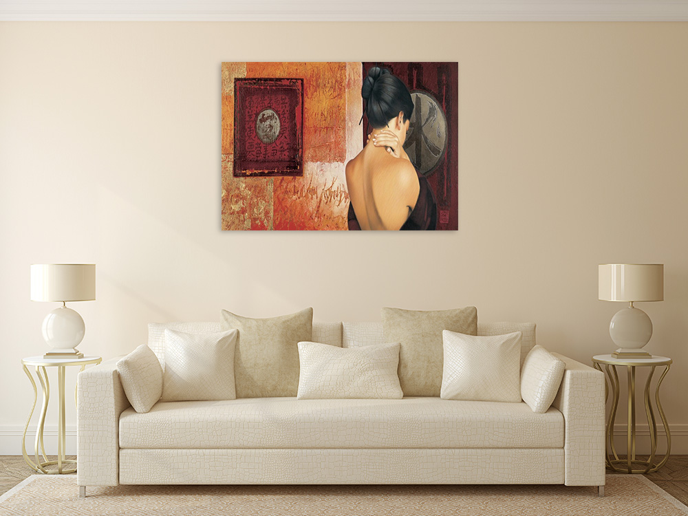 Canvas Art Print Lady Woman