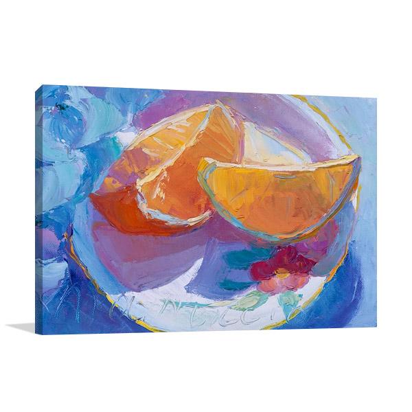 The Cut Oranges Art Print   Biggio