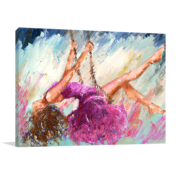 The Dancer on the Branch Wall Art Print