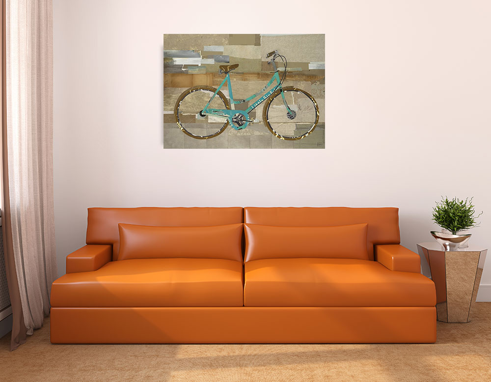 Teal Classic Canvas Wall Art