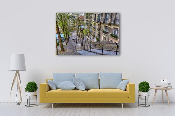 The Historic District of Montmartre Canvas Prints