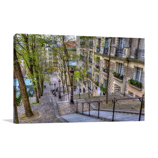 The Historic District of Montmartre Prints Canvas